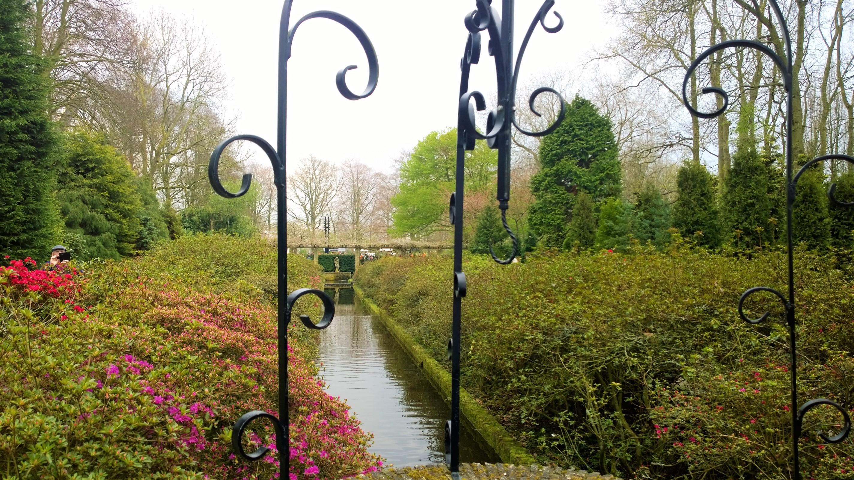 Foto de Vanessa Tuleski, em Keukenhof, na Holanda.